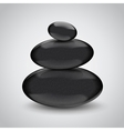 Spa stones on gray background Design concept vector image