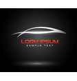 sports car logo company abstract car design vector image vector image