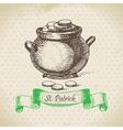 St Patricks Day vintage background vector image vector image
