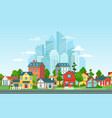 suburban landscape urban architecture small and vector image vector image