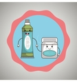 symbol tooth and mouthwash isolated icon design vector image