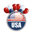 usa related design vector image vector image