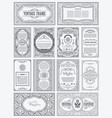 vintage set retro cards template greeting vector image