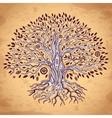 Vintage tree of life vector image