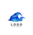 water logo wave logo design and template vector image