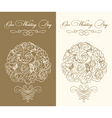 Wedding bouquet vector image