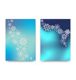 winter celebration postcards with snowflakes can vector image vector image