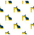 women shoe pattern flat vector image