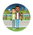 young couple cartoons vector image
