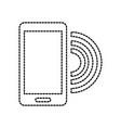 smartphone technology wifi internet online vector image
