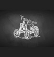 tractor on blackboard vector image