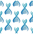 Blue DNA helices seamless pattern vector image