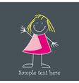 Cute little girl vector image