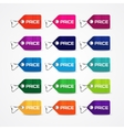 Set of colorful price tags vector image