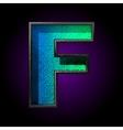 blue plastic figure f vector image
