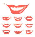 lovely smiles set vector image