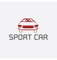 sport car abstract design template vector image