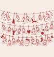 advent calendar with christmas bags set advent