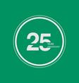 25 year anniversary celebration logo 25th design