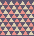 abstract seamless pattern color triangles vector image vector image