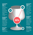 alcohol theme infographic vector image