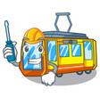 automotive miniature electric train in cartoon vector image