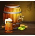 beer oak mug barrel background banner vector image