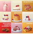 berry dessert collection cartoon style vector image vector image