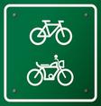 Bike Symbol vector image vector image