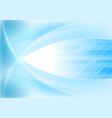 bright blue abstract wavy tech background vector image vector image