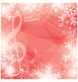 bright red background with music notes vector image vector image