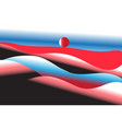 bright unusual hills vector image vector image