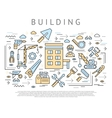 Building And Construction Concept vector image vector image