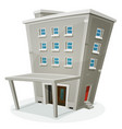 building house with offices or apartments vector image vector image