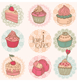 Cakes and Desserts vector image vector image