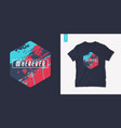 california graphic t-shirt summer design with palm vector image vector image