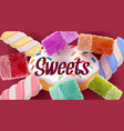 candies sweets donut jellies marshmallows vector image