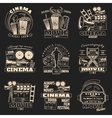 Cinema Dark Emblem Set vector image vector image