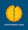 crash cryptocurrency concept vector image
