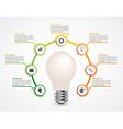 creative 3d light bulb infographics design vector image vector image