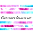 cute watercolor banners vector image vector image