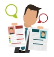 cv or resume related icons image vector image vector image