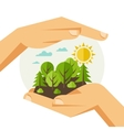 Ecology protection concept vector image vector image