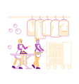 female characters employees professional vector image vector image