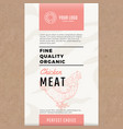 fine quality organic chicken abstract meat vector image vector image