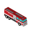 fire truck rescue engine transportation vector image vector image