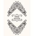 Floral Vintage Corner Frame vector image vector image