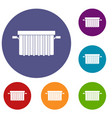 garbage tank icons set vector image vector image