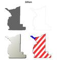 Gilliam Map Icon Set vector image vector image