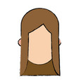 girl character faceless female people vector image vector image